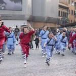 Kampfsport Vorführung beim Chinesischen Neuen Jahr in Rom 2017