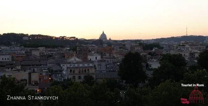 Rome Summer View from the orange garden