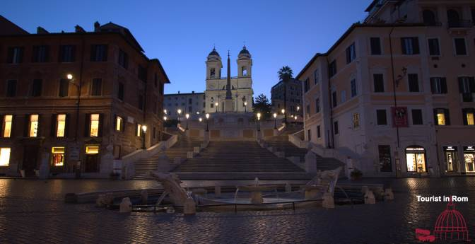Hitze in Rom Heat in Rome Sunrise at the Spanish Steps