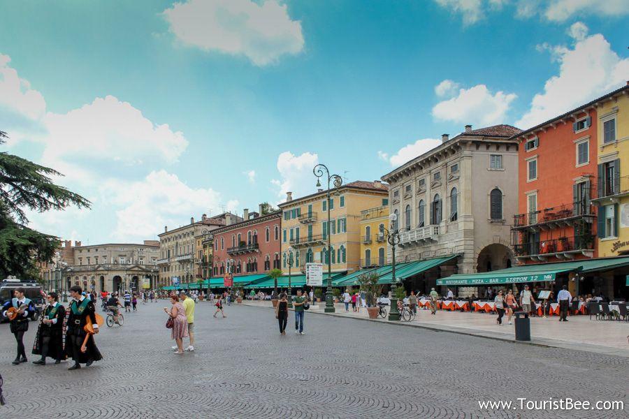 Map Verona Italy Attractions