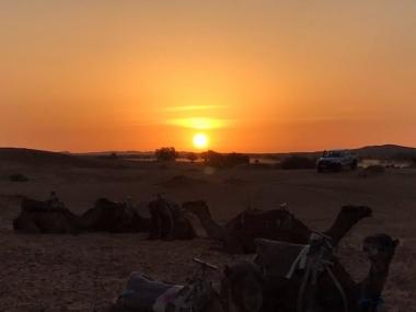 SUN SET IN THE DESERT