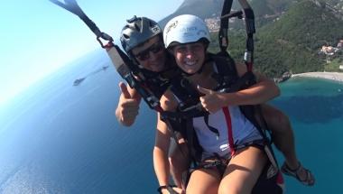 Excellent paragliding tandem flught in Montenegro