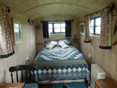 Orchard hut bedroom
