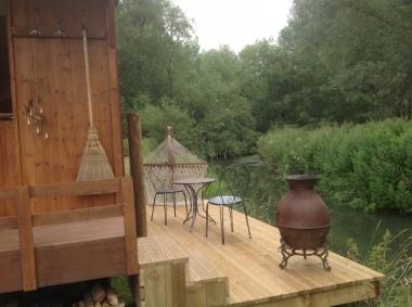 River hut verandah