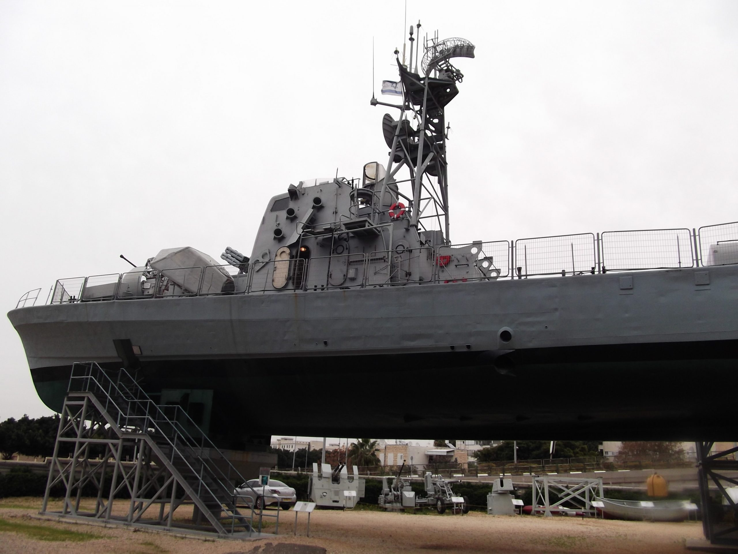 INS Mitvach at the Clandestine Immigration and Navy Museum