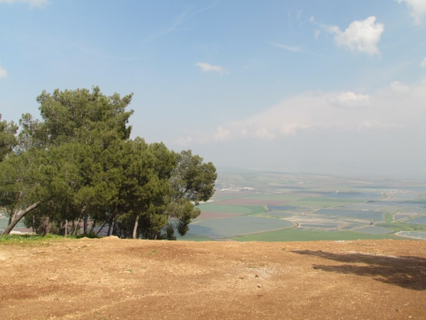 The Gilboa Scenic Road provides panoramas such as this!