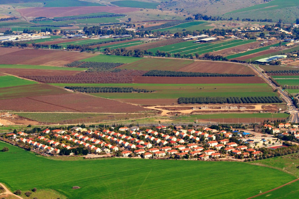 View,From,Mount,Tabor,To,Small,Kibbutz,Alonim,In,Northern