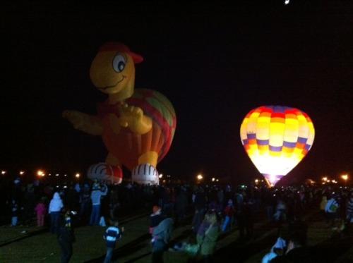 A Balloon Glow Display