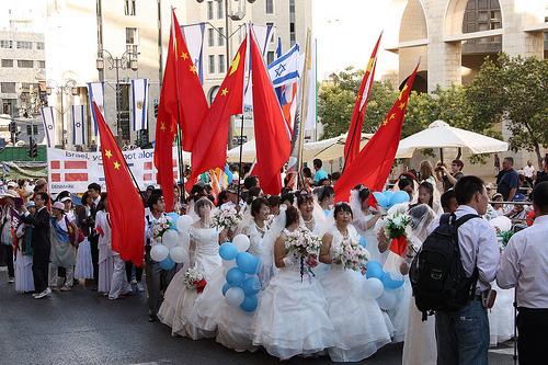 The Jerusalem March takes place every Sukkot in Jerusalem. By Avital Pinnick, via Flickr