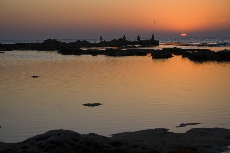 The beautiful sunset at Achziv. Image Uzi Yachin via Flickr