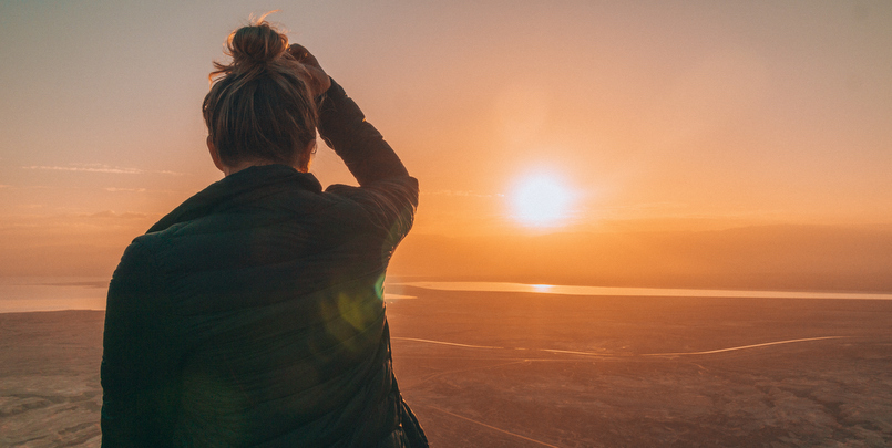 Sunrise at Masada