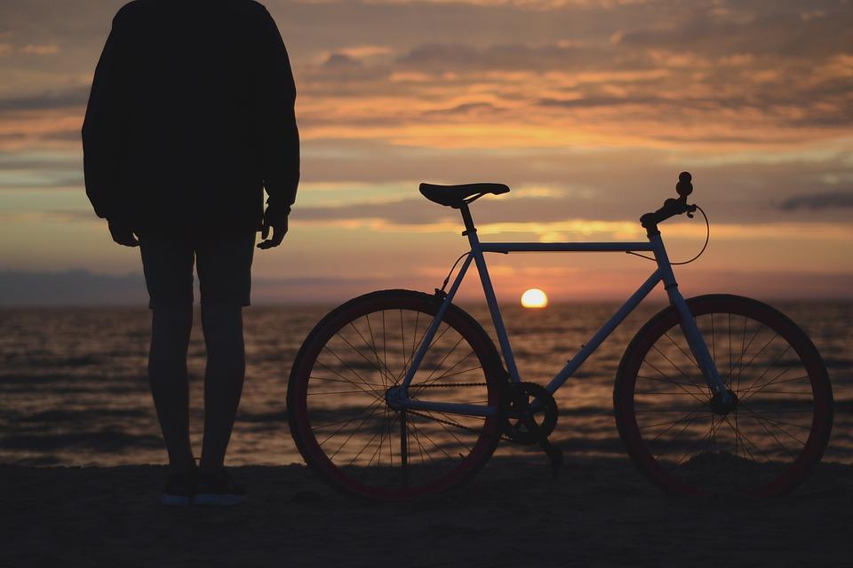 Bike at Tel Aviv beach