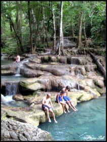 Chutes Erewan, Kanchanaburi, Thaïlande, Asie, voyage, nature, chutes