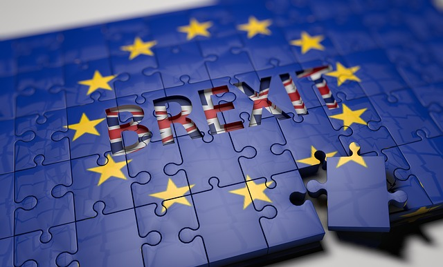"A picture of a puzzle named ""Brexit"" with one piece being removed."