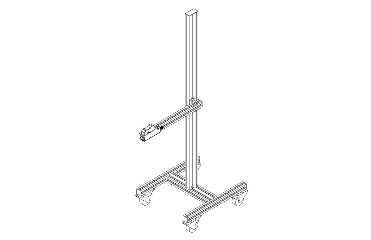 Stand with Fixed Arm and Casters 1 pdf - Stands and Conveyors