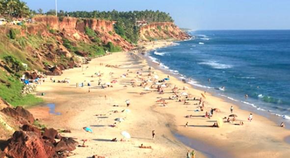 Praia Varkala beach, Kerala