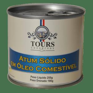Atum sólido em óleo comestível
