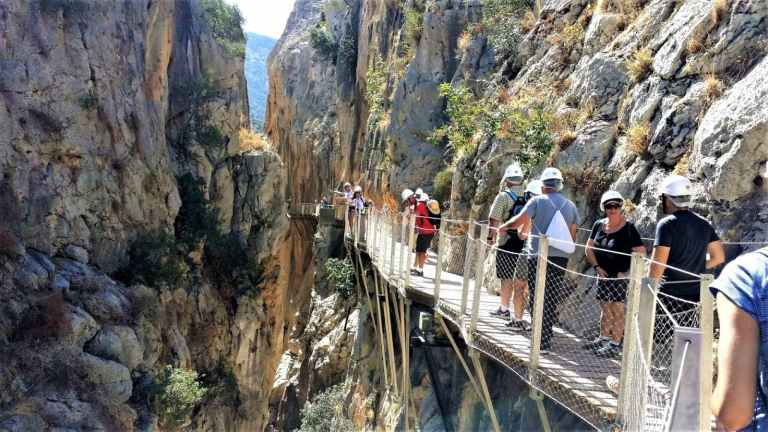 Caminito del Rey group trip with only one pick-up