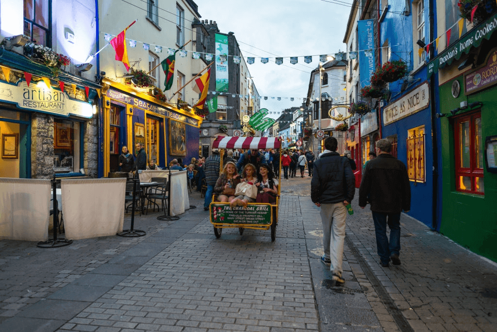 Shop street in Galway