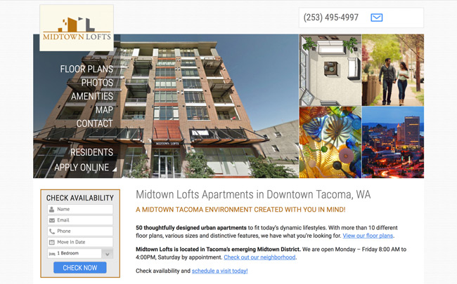 MT Lofts Apartments website