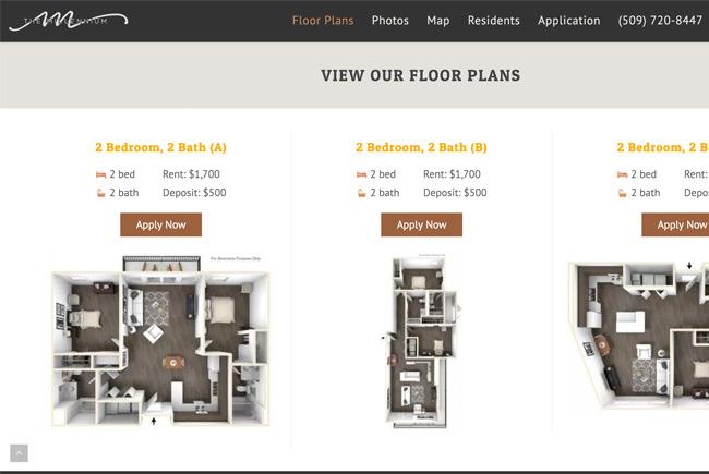 Millenium Apartments website