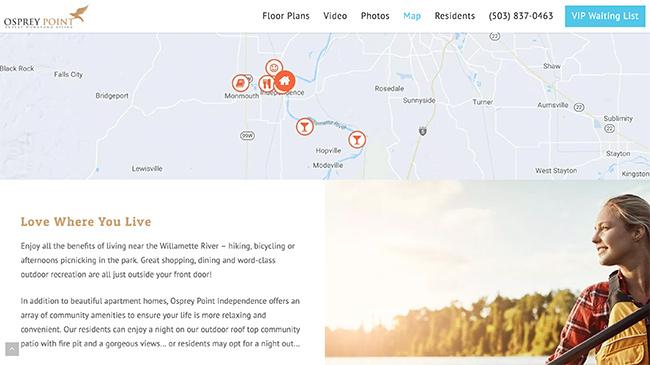 Osprey Point Apartments website