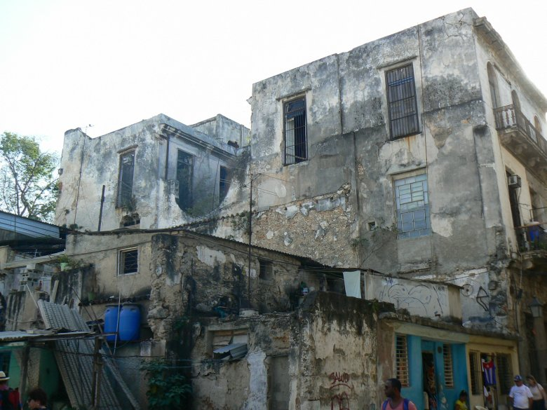 Old Havana buildings, still in use.
