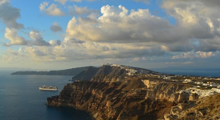 Santorini - View from Santo Wines Pyrgos