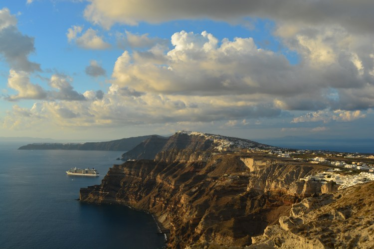 Santorini - View from Santo Wines Pyrgos