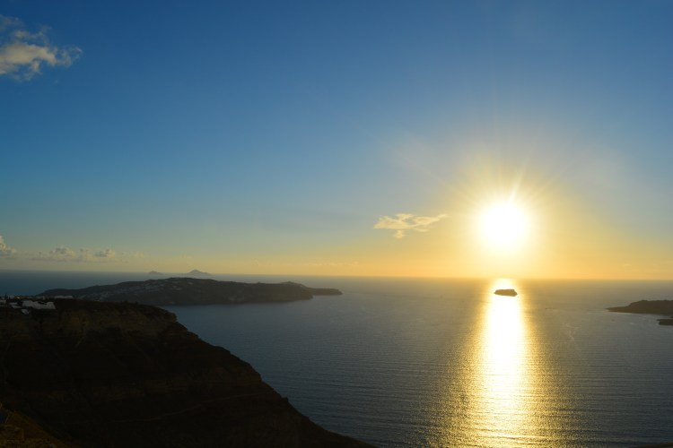View of the Sunset from Santo Wines, Santorini!