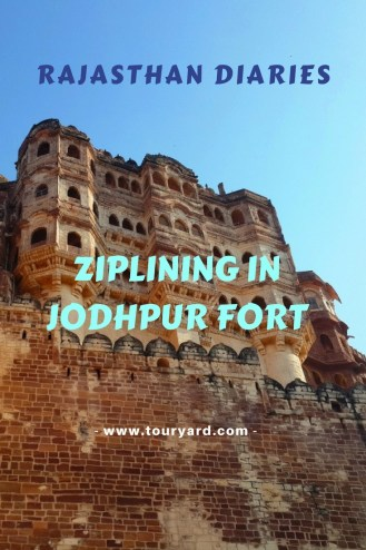 Ziplining in Jodhpur Fort