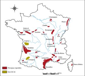 principales regiones vinicolas francia