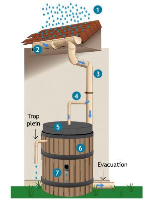 Fonctionnement du récupérateur d'eau