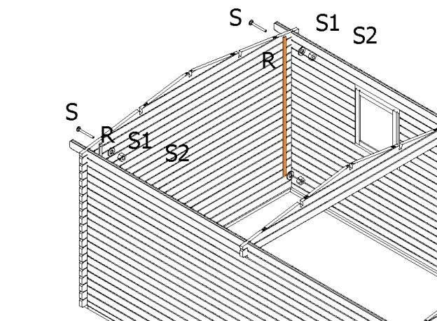 Positionnement de la lame anti-tempête dans chaque angle