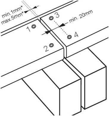 doublement des lambourdes aux points de jonction lames de terrasse