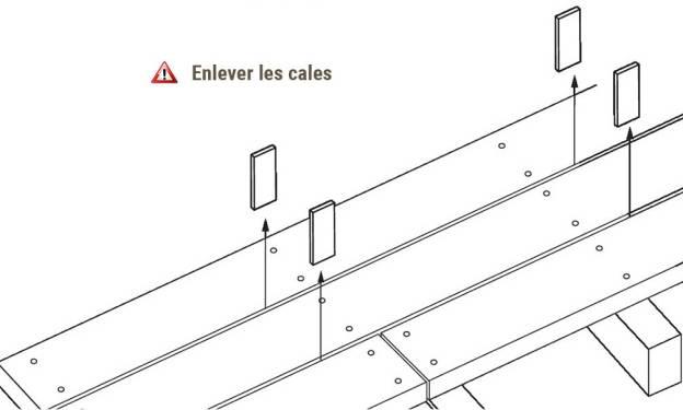 Cales d'écartement vissage terrasse bois