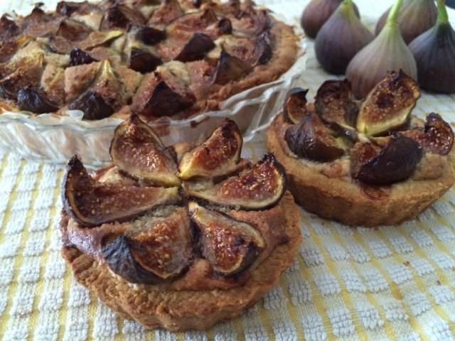 tartes sablées aux figues et à la crème d'amandes