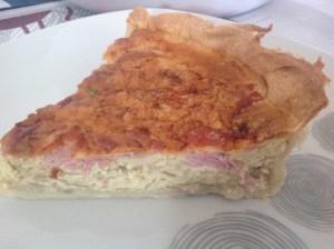 tarte aux oignons et au jambon