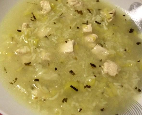 soupe de poulet à l'estragon