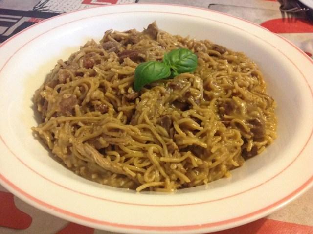 nouilles chinoises façon thaï aux restes de poulet rôti