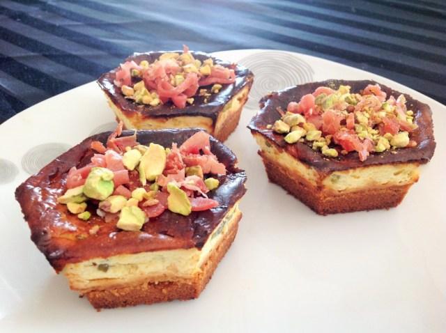 cheesecakes aux petales de jambon