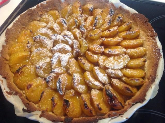 tarte aux prunes et aux épices douces