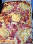 Pizza jambon raclette