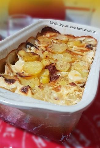 gratin pommes de terre chorizo thermomix