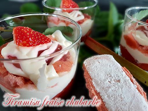 tiramisu fraise rhubarbe thermomix