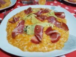 Risotto tomate- coppa- artichauts à l'huile