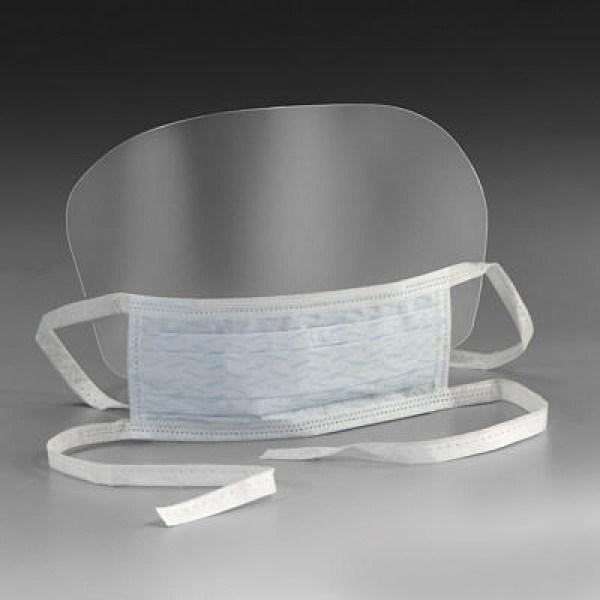 Masque médical 3 plis jetable avec visière Type IIR à ...