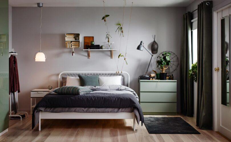 photo de chambre de 9m2 amenagee avec du mobilier ikea