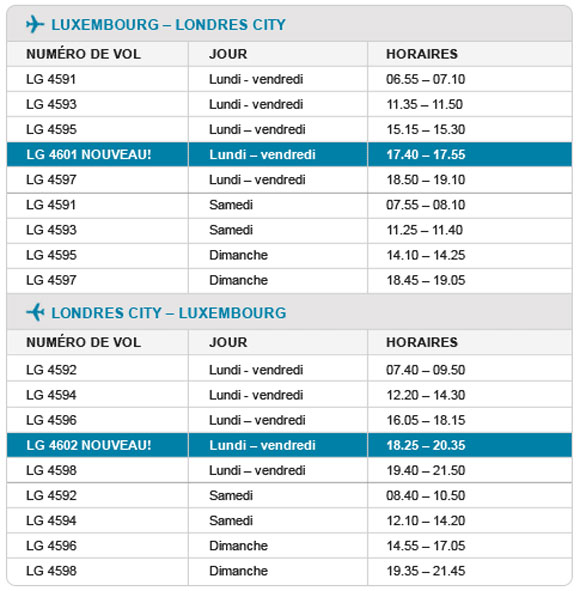 horaires-luxembourg-londres