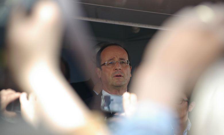 Photo of François Hollande au Luxembourg pour rencontrer les frontaliers